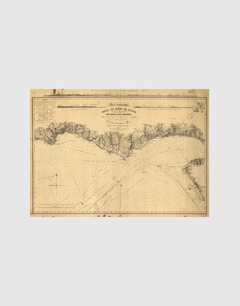 Carta de 1857 – Barra do Porto de Lisboa