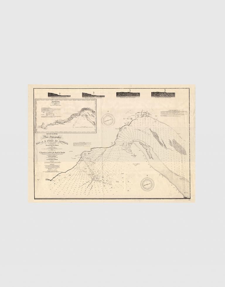 Carta de 1884 – Barra e porto de Setúbal