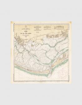 Carta de 1962 – Barra e Ria de Faro – Olhão