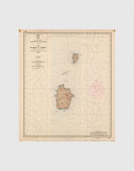 Carta de 1970 – Arquipélago dos Açores – Ilhas das Flores e do Corvo