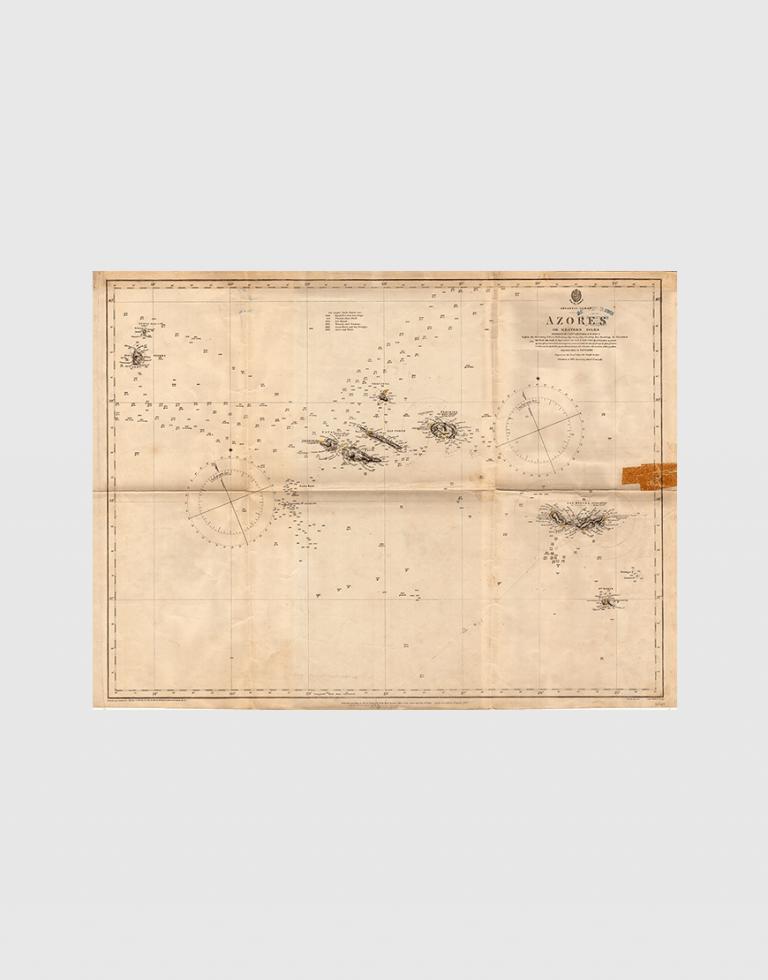 Carta de 1867 – Arquipélago dos Açores – Ilhas Ocidentais