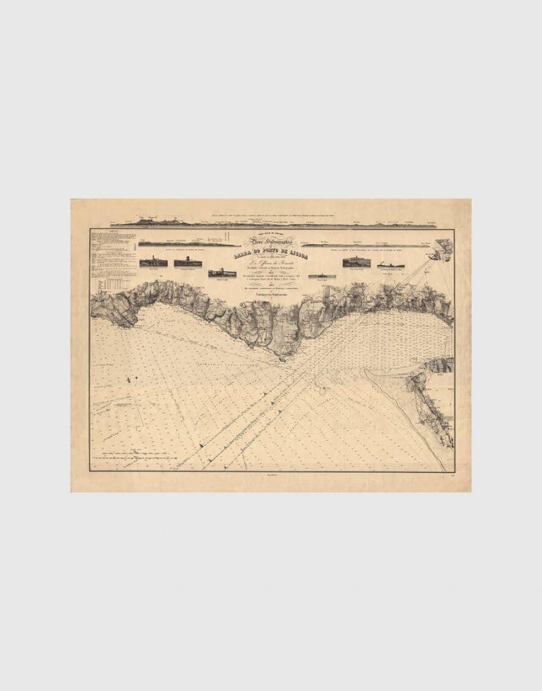 Carta de 1893 – Barra e porto de Lisboa