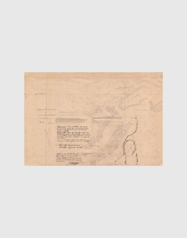 Carta de 1910 – Barra de Faro e Olhão