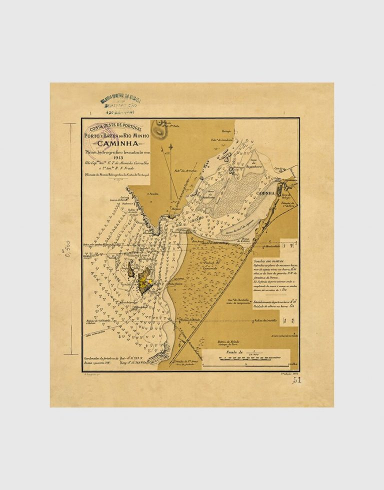 Carta de 1913 – Porto e Barra do Rio Minho Caminha