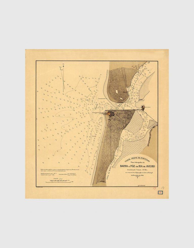 Carta de 1914 – Barra e Foz da Ria de Aveiro