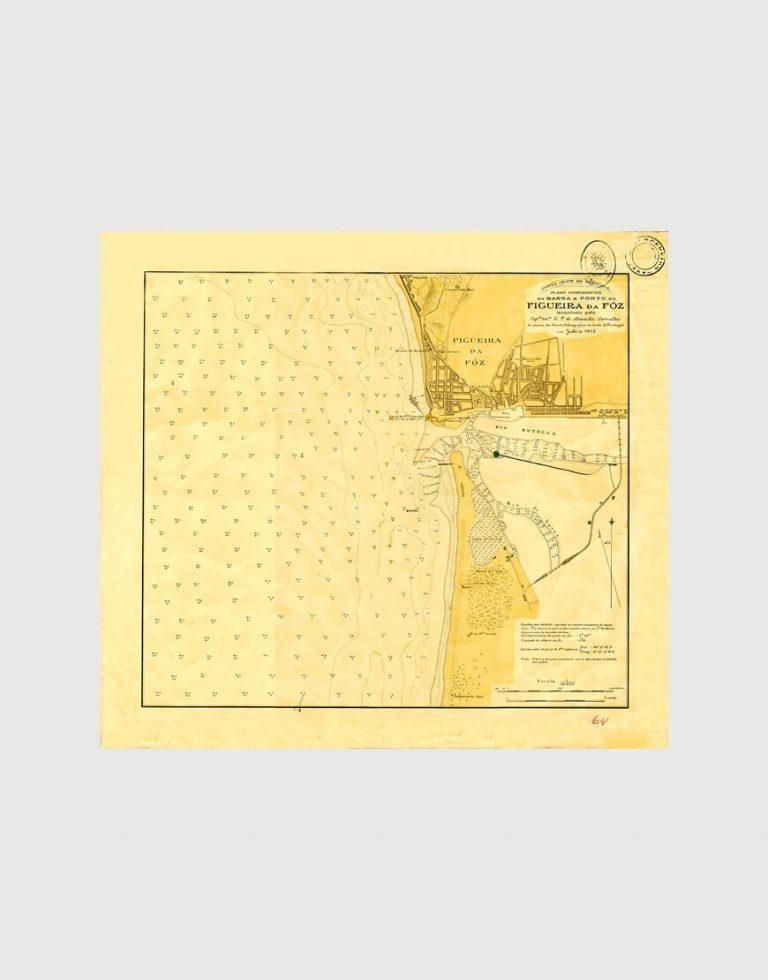 Carta de 1915 – Barra e Porto da Figueira da Foz
