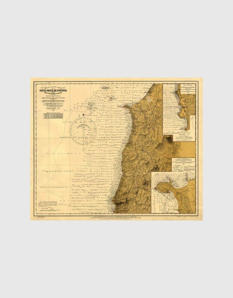 Carta de 1927 – Entre o Cabo Carvoeiro e o Cabo Raso