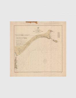 Carta de 1937 – Arquipélago da Madeira – Costa Sul da Ilha de Porto Santo, Baía de Porto Santo
