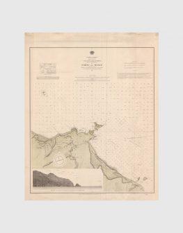 Carta de 1937 – Arquipélago da Madeira – Costa Norte da Ilha da Madeira, Porto do Moniz