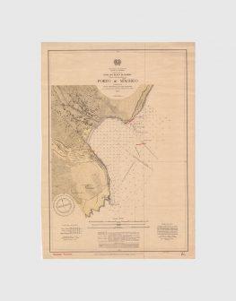 Carta de 1937 – Arquipélado da Madeira – Costa Sul da Ilha da Madeira, Porto de Machico