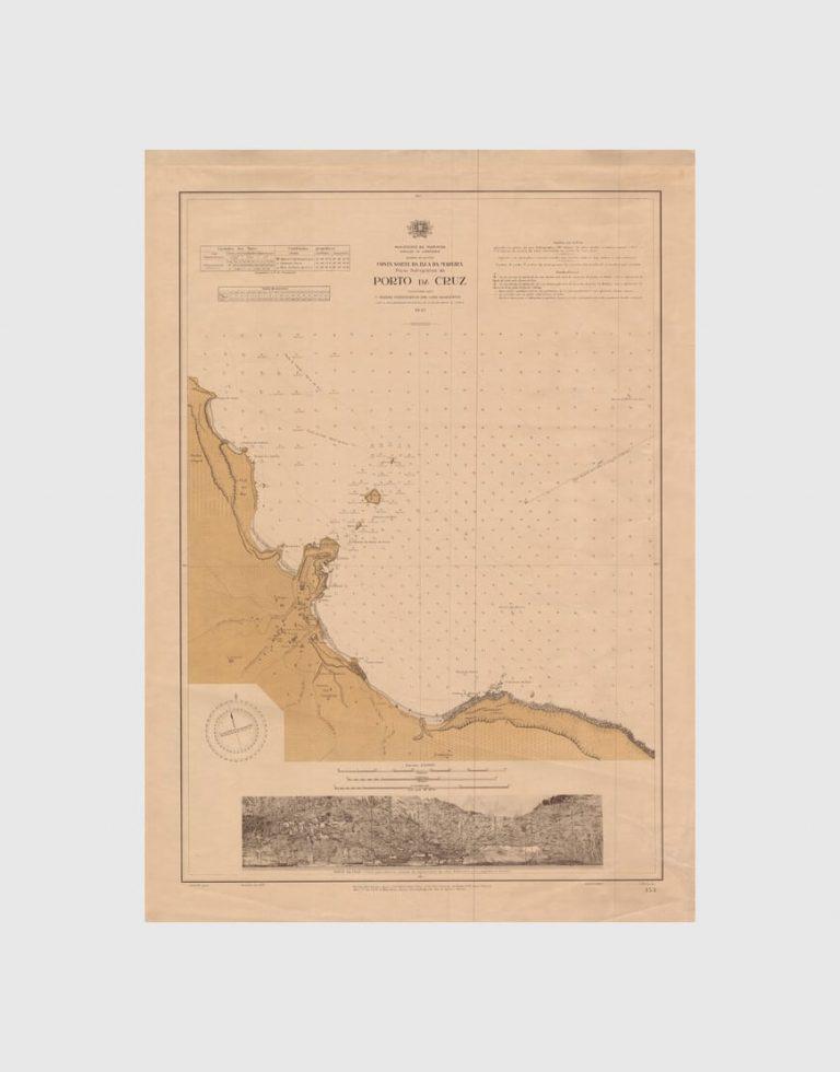 Carta de 1937 – Arquipélago da Madeira – Costa Norte da Ilha da Madeira, Porto da Cruz