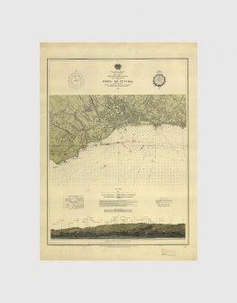 Carta de 1938 – Arquipélago da Madeira – Costa Sul da Ilha da Madeira, Porto do Funchal
