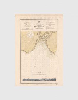 Carta de 1940 – Arquipélago dos Açores – Costa Sul da Ilha de Santa Maria, Vila do Porto