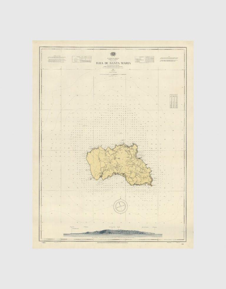 Carta de 1940 – Arquipélago dos Açores – Ilha de Santa Maria