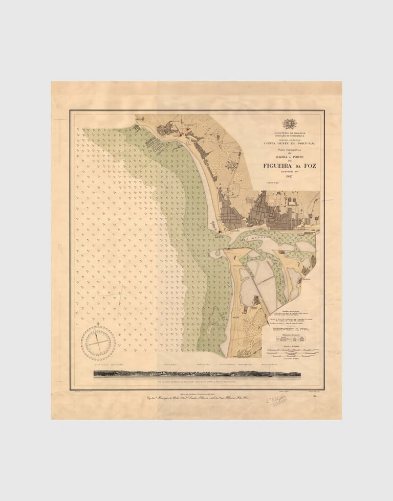 Carta de 1942 – Barra e Porto da Figueira da Foz