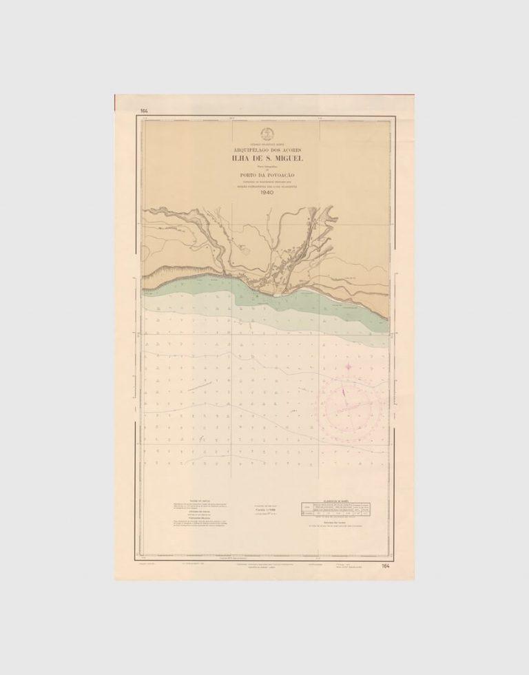 Carta de 1943 – Arquipélago dos Açores – Ilha de São Miguel, Porto da Povoação