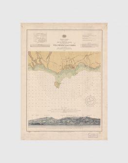 Carta de 1944 – Arquipélago dos Açores – Costa Sul da Ilha de São Miguel, Vila Franca do Campo
