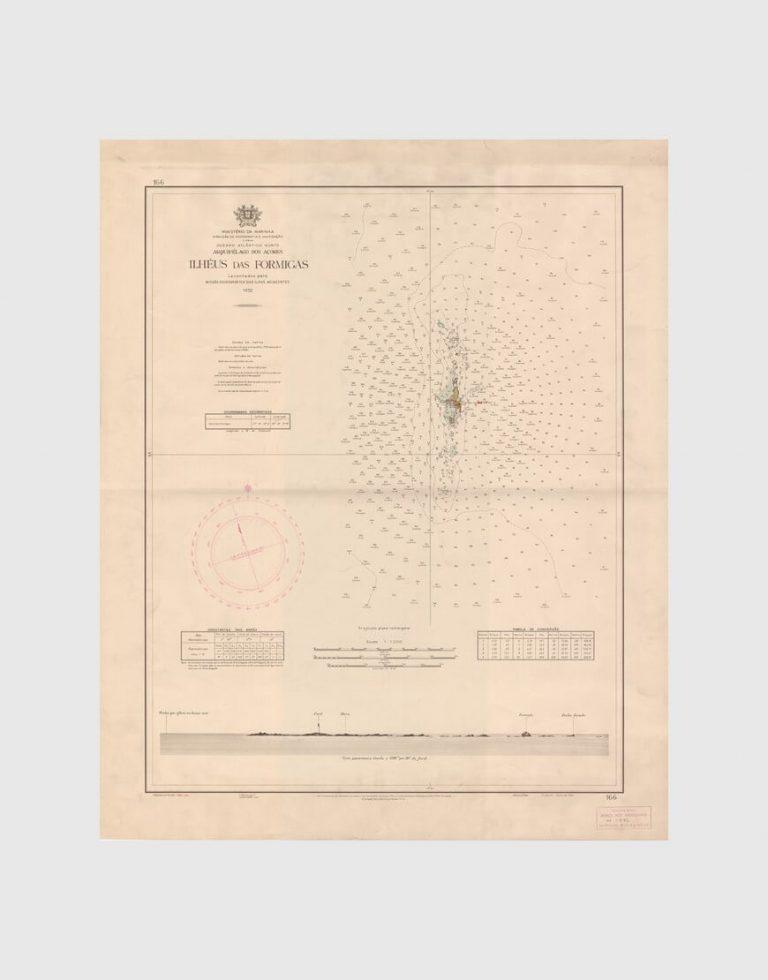 Carta de 1954 – Arquipélago dos Açores – Ilhéus das Formigas