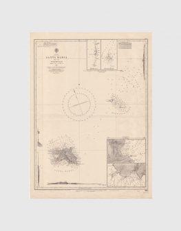 Carta de 1954 – Arquipélago dos Açores – Santa Maria e Formigas