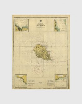 Carta de 1957 – Arquipélago dos Açores – Ilha Graciosa