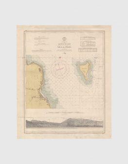 Carta de 1961 – Arquipélago dos Açores – Costa Leste da Ilha Graciosa, Vila da Praia