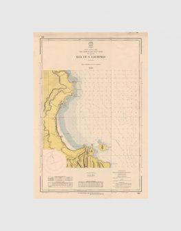 Carta de 1963 – Arquipélago dos Açores – Costa Leste da Ilha de Santa Maria, Baía de S. Lourenço