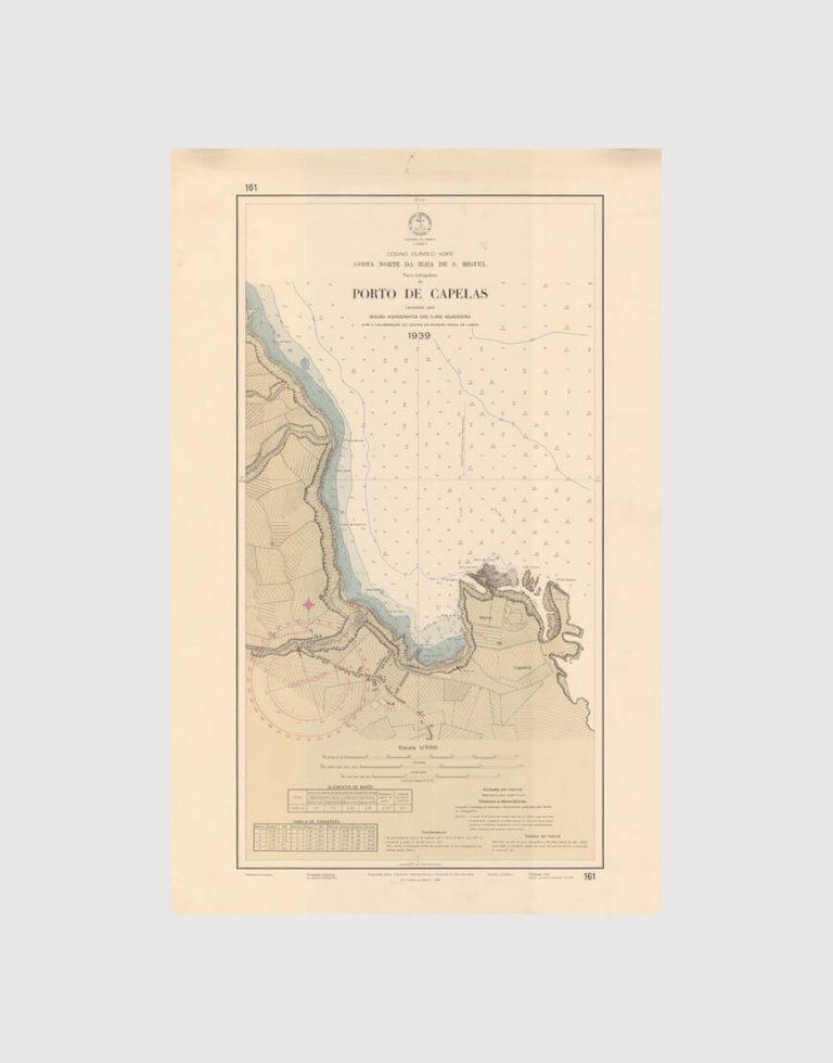 Carta de 1964 – Arquipélago dos Açores – Costa Norte da Ilha de S. Miguel – Porto de Capelas