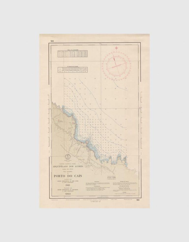 Carta de 1965 – Arquipélago dos Açores – Ilha do Pico, Porto do Cais