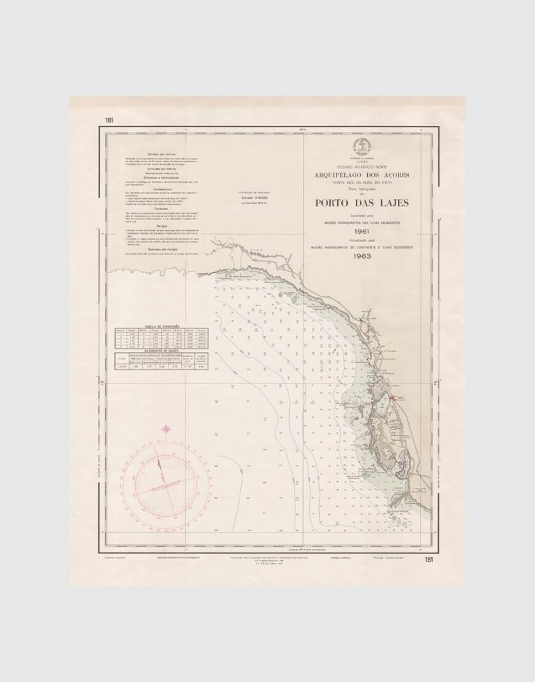 Carta de 1966 – Arquipélago dos Açores – Costa Sul da Ilha do Pico, Porto das Lajes