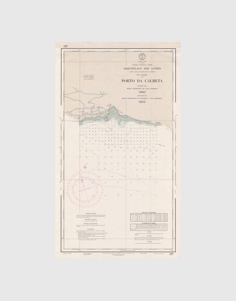 Carta de 1966 – Arquipélago dos Açores – Costa Sul da Ilha de S. Jorge, Porto da Calheta