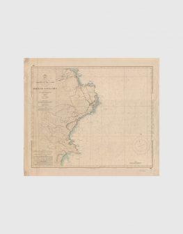 Carta de 1966 – Arquipélago dos Açores – Ilha das Flores, Porto de Santa Cruz