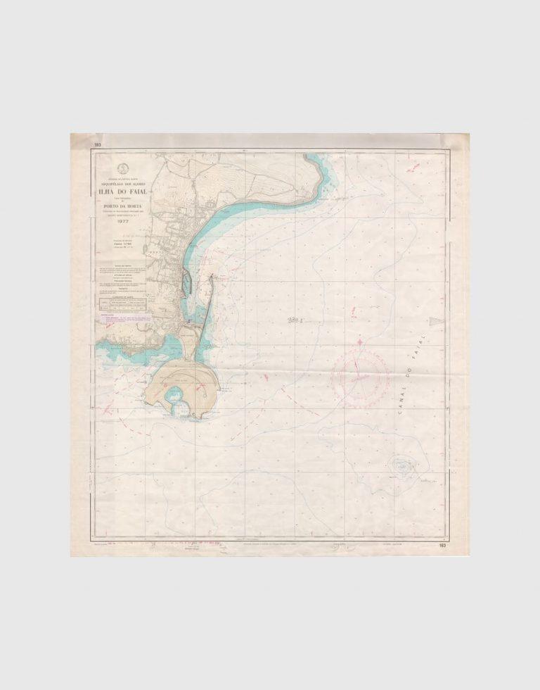Carta de 1980 – Arquipélago dos Açores – Ilha do Faial, Porto da Horta