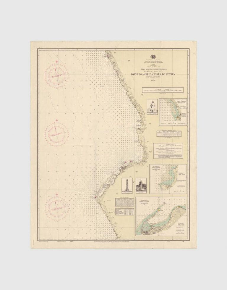 Carta de 1950 – Porto do Ambriz à Barra do Cuanza