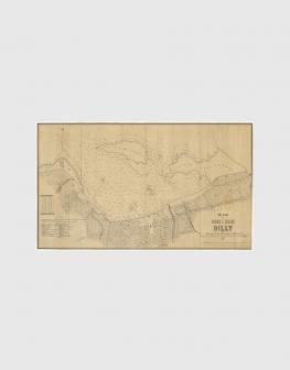 Carta de 1870 – Porto e Cidade de Dili