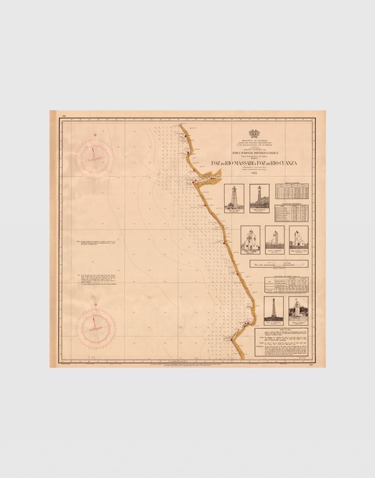 Carta de 1952 – Costa desde a Foz do Massabi à Foz do Rio Cuanza