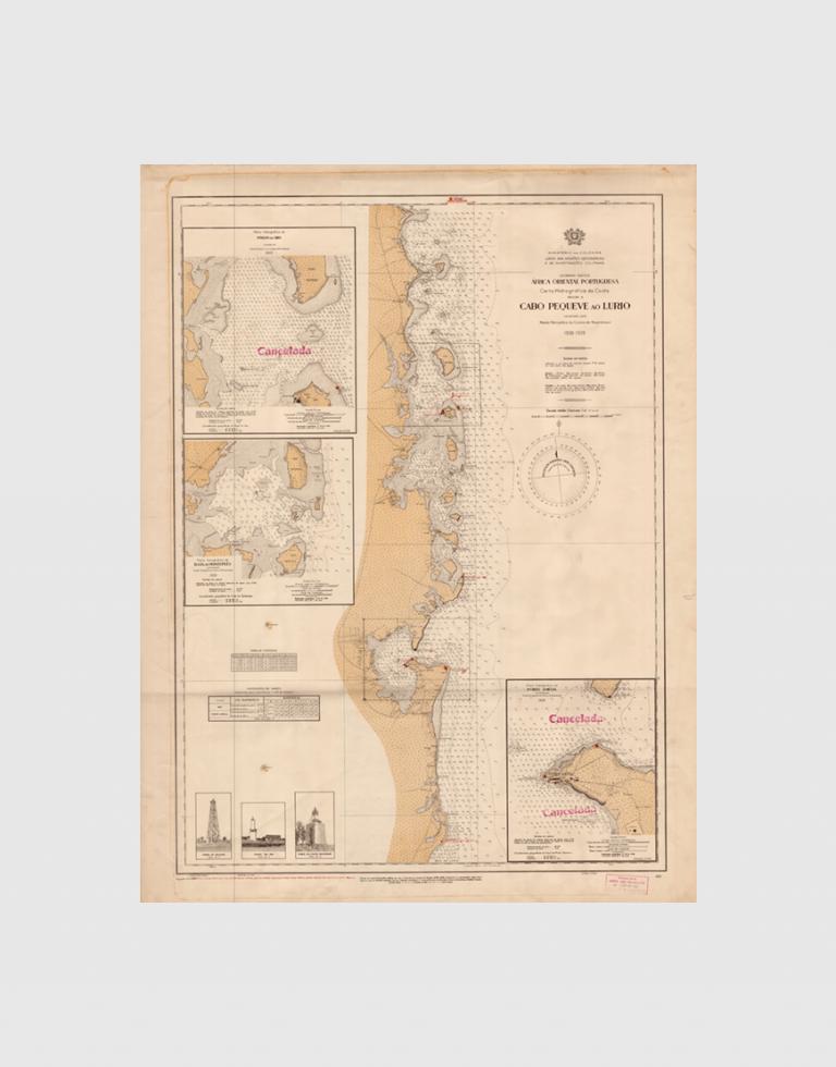 Carta de 1938 – Costa do Cabo Pequeve ao Lurio
